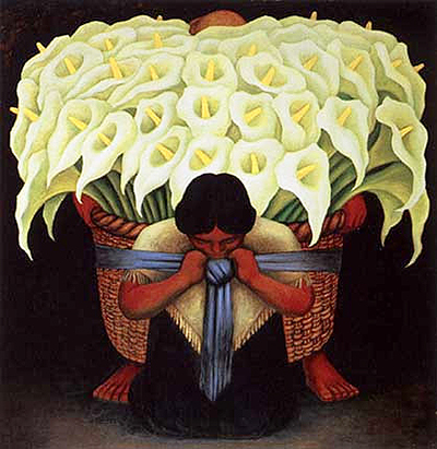 Flower Vendor Diego Rivera