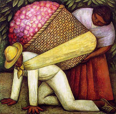 Image result for The Flower Carrier (Include) Painting by Diego Rivera