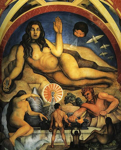 The Liberated Earth with the Powers of Nature Controlled by Man Diego Rivera