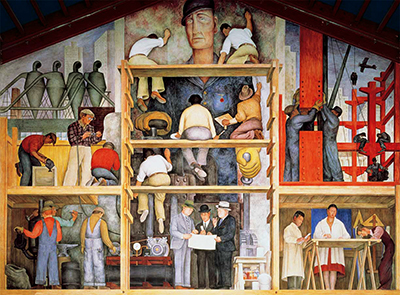 The Making of a Fresco, Showing the Building of a City Diego Rivera