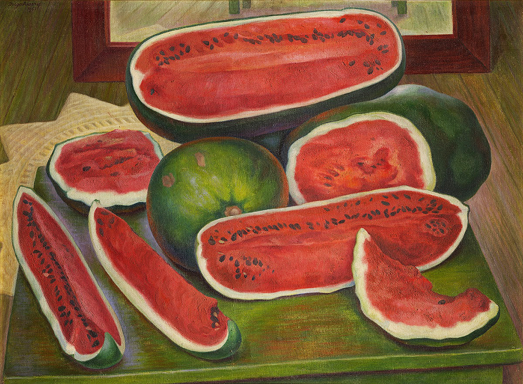 The Watermelons in Detail Diego Rivera